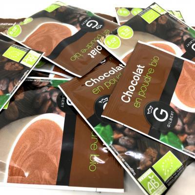 Chocolat en poudre bio en dosettes 20 g gilbert