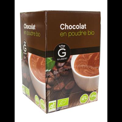 Chocolat en poudre bio en dosettes 90 x 20 g gilbert