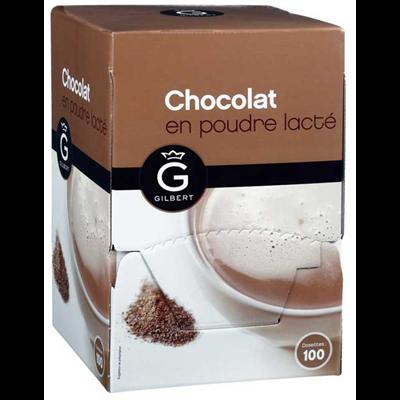 Chocolat en poudre lacte en dosettes 100 x 30 g gilbert