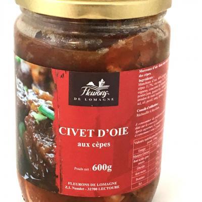 Civet d oie aux cepes 600g bocal meilleur ouvrier de france 1