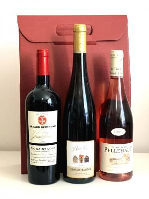 Coffret bacchus panier gourmand de noel coffret vins 1