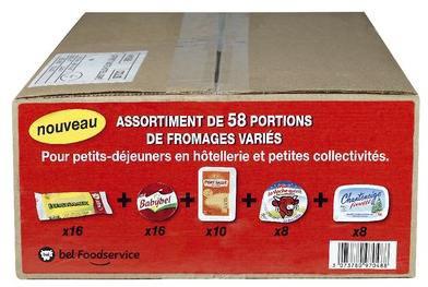 Coffret petit dejeuner bel 58 portions