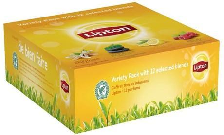 Coffret thes et infusions 12 parfums lipton pour professionnels