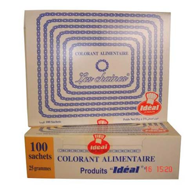 Colorant alimentaire marocain 10 x 100 sachets ideal 2