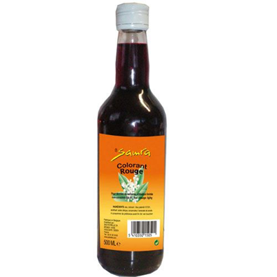 Colorant rouge 500 ml samra 1