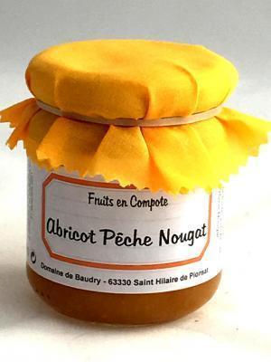 Compote abricots peche nougat produits du terroir 1