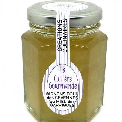 Confit culinaire oignons doux des cevennes au miel des garrigues 130g