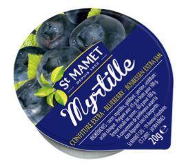 Confiture 20g saint mamet extra myrtilles coupelles alu a l unite 1
