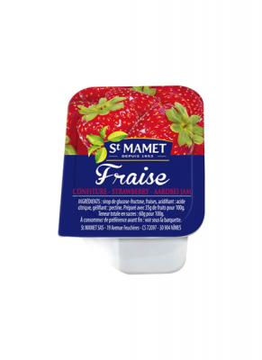Confiture 25g saint mamet fraise vendu a l unite