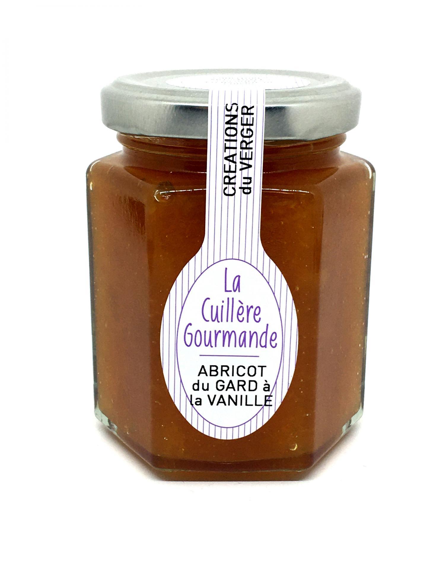 Confiture abricot du gard a la vanille de bourbon 225g