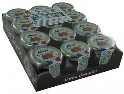 Confiture abricot lucien georgelin 12 x 28 g stick a l unite dosette individuelle