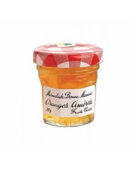 Confiture bonne maman mini pot en verre 30g le lot de 15 orange ameres