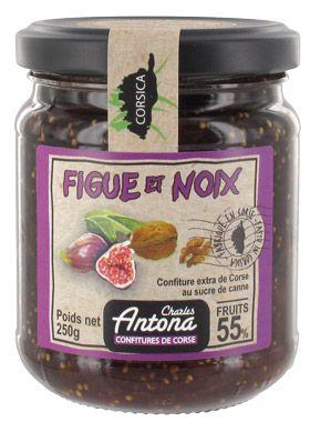 Confiture corse de figues et noix 250 g charles antona 2