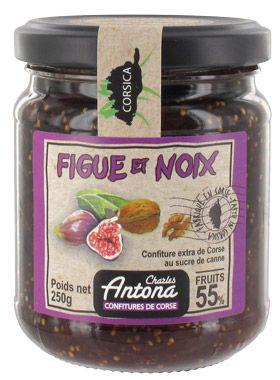 Confiture corse de figues et noix 250 g charles antona