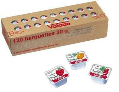 Confiture d abricot valade 120 x 30 g pour professionnels