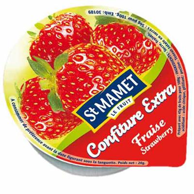 Confiture de fraise 120 x 20 g st mamet