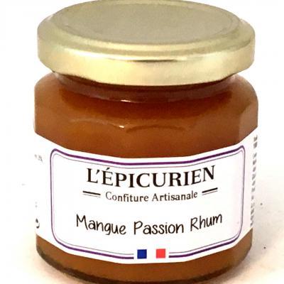 Confiture de mangue passion et rhum 125g bocal 1