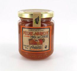 Confiture de peches abricots miel 250 g charles antona