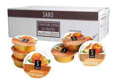 Confiture extra de fraises 25 g saxo vendu a l unite
