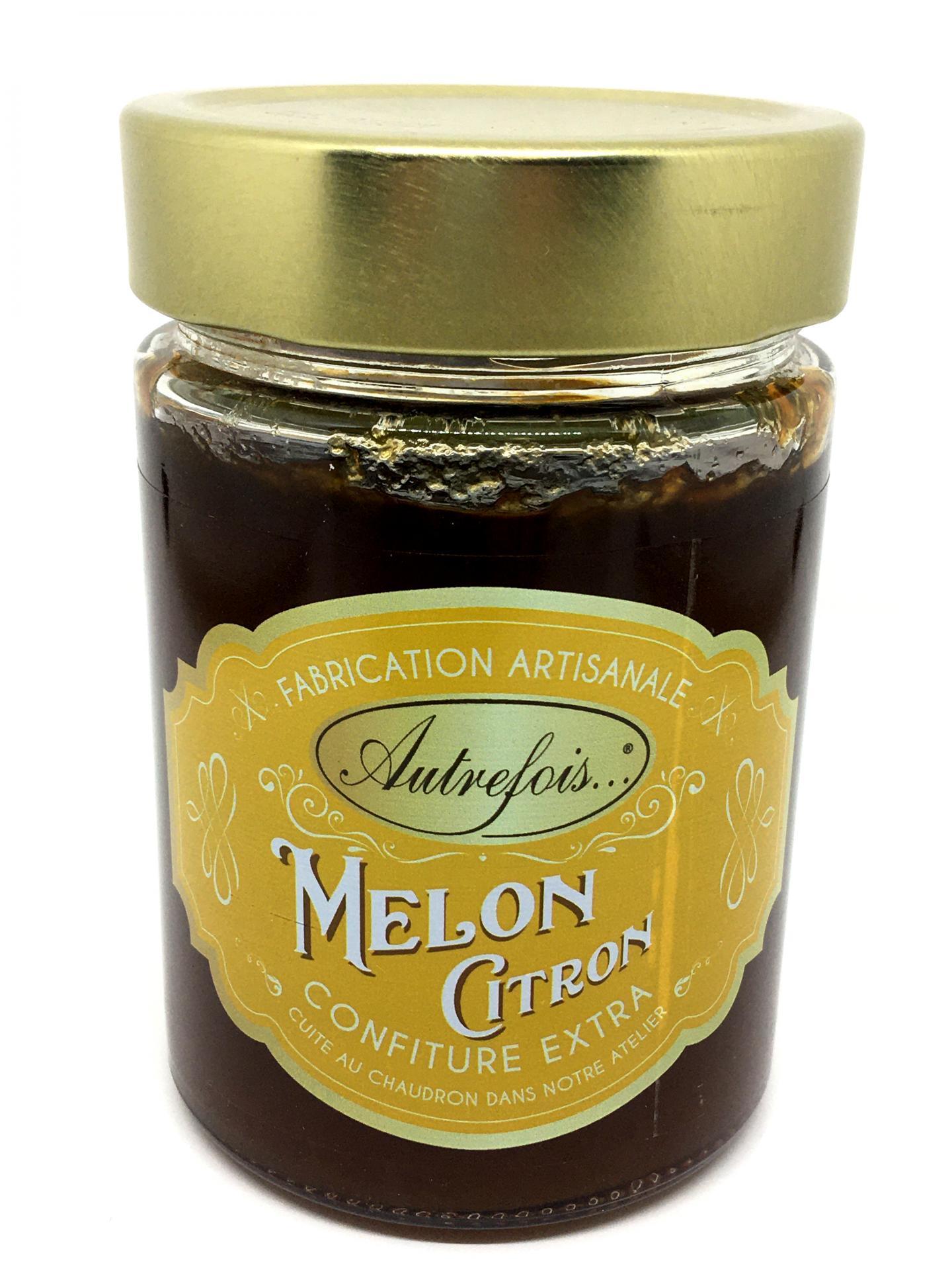 Confiture melon citron 350g autrefois terroir milhaud gard