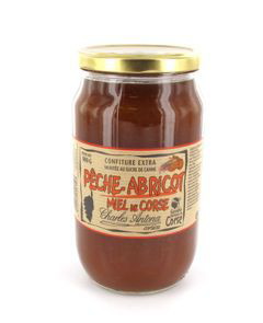 Confiture peches abricots et miel 980 g charles antona 1