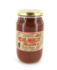 Confiture peches abricots et miel 980 g charles antona