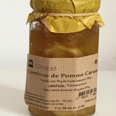 Confiture pomme caramel 360g esat la cezarenque en cevennes concoules