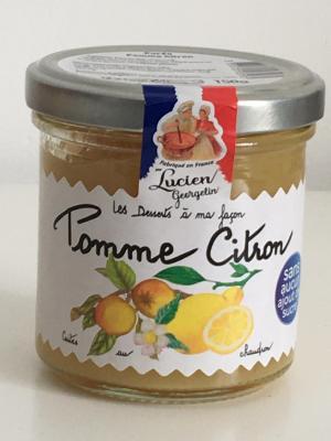 Confiture pomme citron 150g lucien georgelin