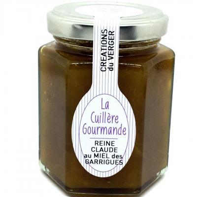 Confiture reine claude au miel des garrigues 225g la cuillere gourmande 1
