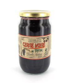 Confiture thym et cerises noires 980 g charles antona 1