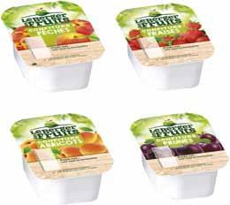 Confitures assorties 4 parfums bqt 30 g x 120 berger de fruits