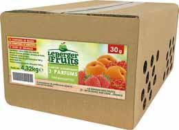 Confitures assorties fraise abricot groseille barquettes 30g x144 le berger de fruits