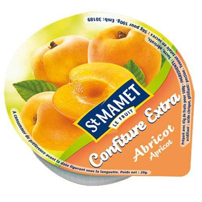 Confitures d'abricot 120 x 20 g St Mamet
