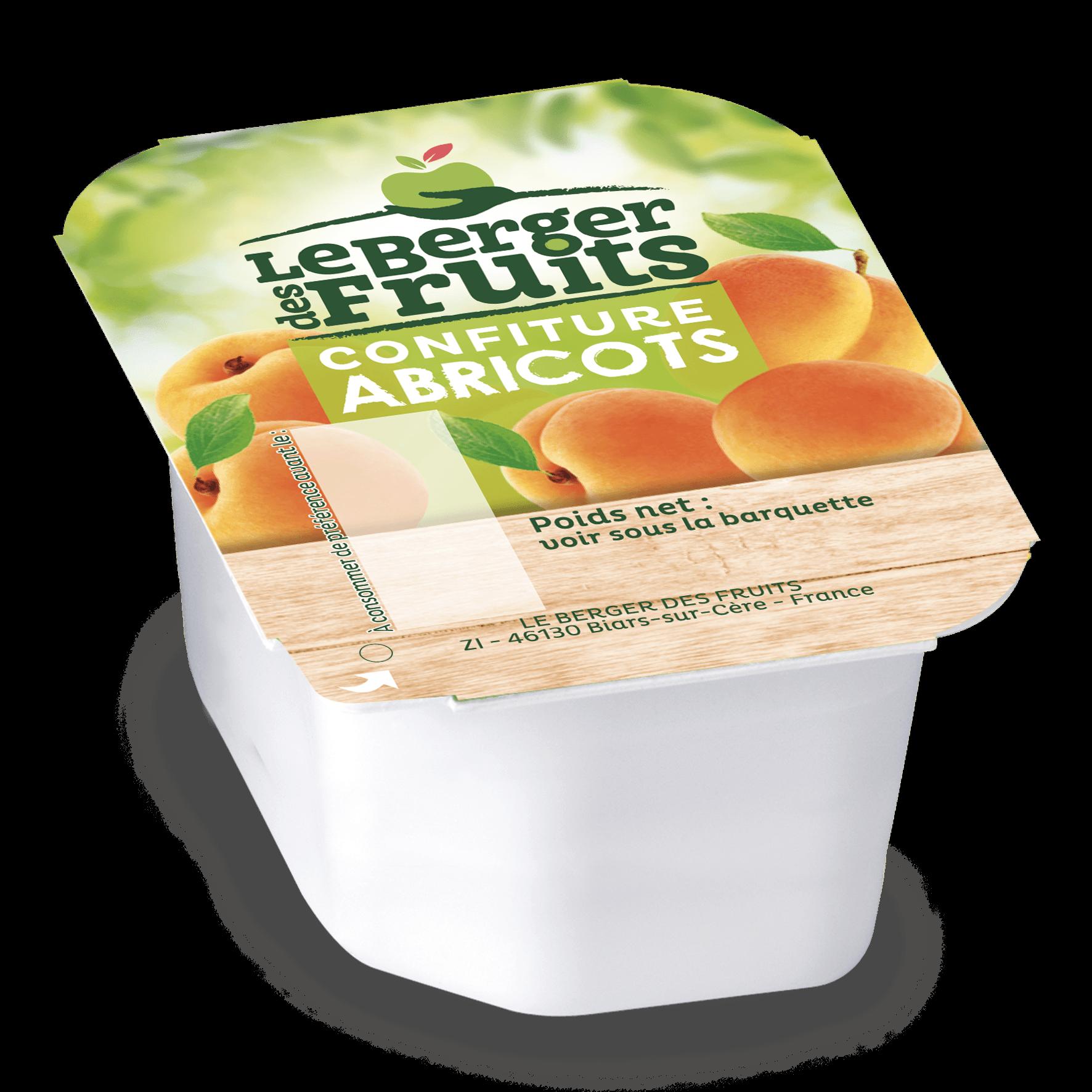 Confitures d abricots 30g en barquette berger de fruits