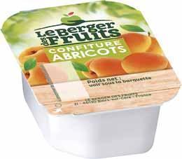 Confitures d abricots barquettes 20 g x 144 le berger des fruits
