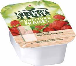 Confitures de fraises barquettes 20 g x 144 le berger des fruits