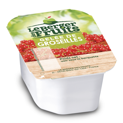 Confitures de groseilles 30g en barquette berger de fruits