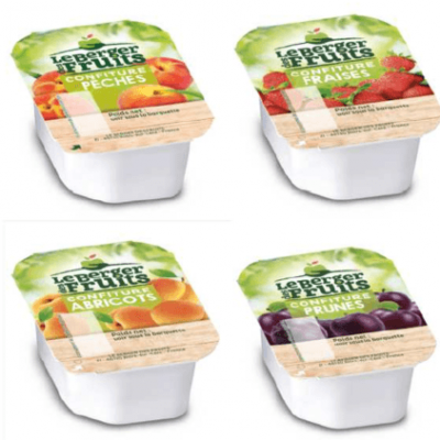 Confitures peche 30 g berger de fruits