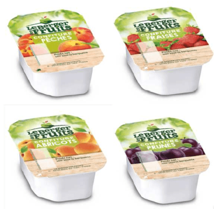 Confitures peche bqt 20 g berger de fruits