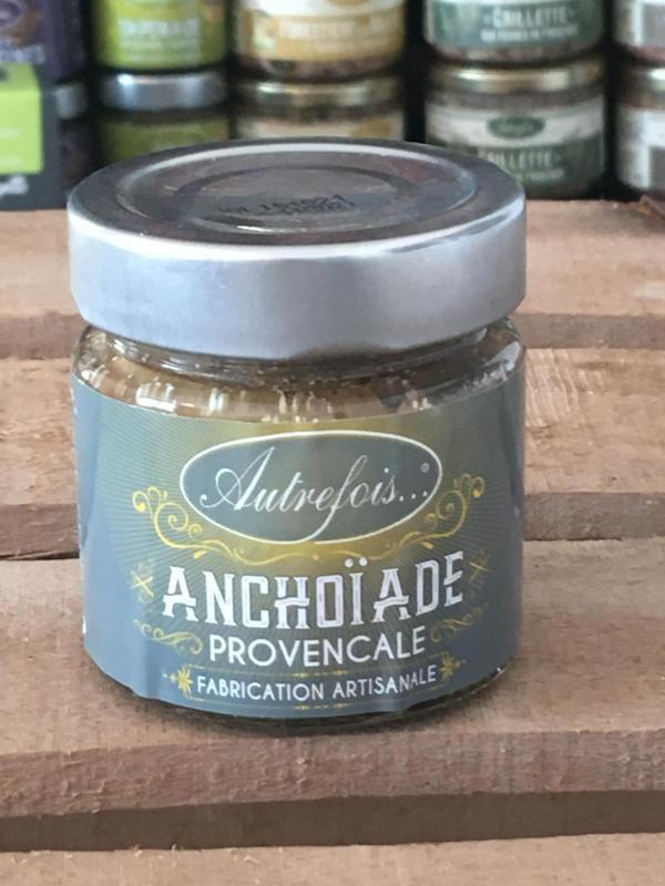 Creme d anchoiade 100g autrefois terroir milhaud gard 2