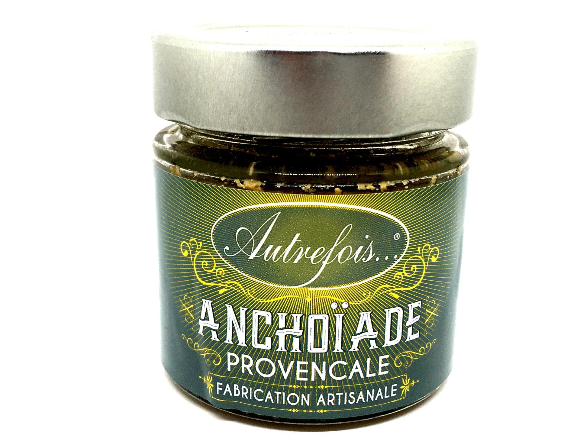 Creme d anchoiade 100g autrefois terroir milhaud gard