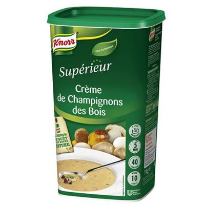 Creme de champignons des bois 1 kg 40 portions knorr superieur