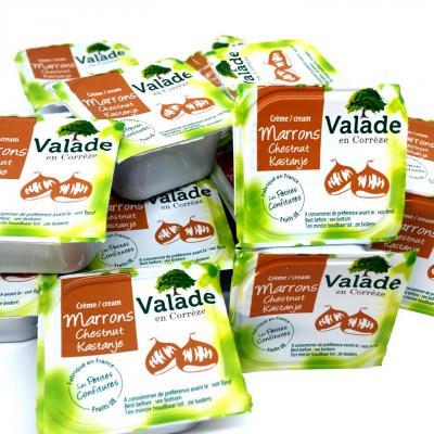 Creme de marron vanillee bqt 30 g le lot de 12