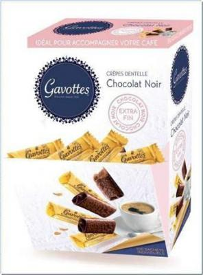 Crepes dentelles au chocolat noir 750 g pour bureau