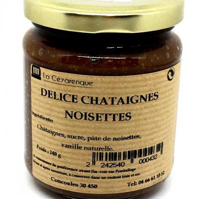 Delice chataignes aux noisettes 250g esat la cezarenque en cevennes concoules