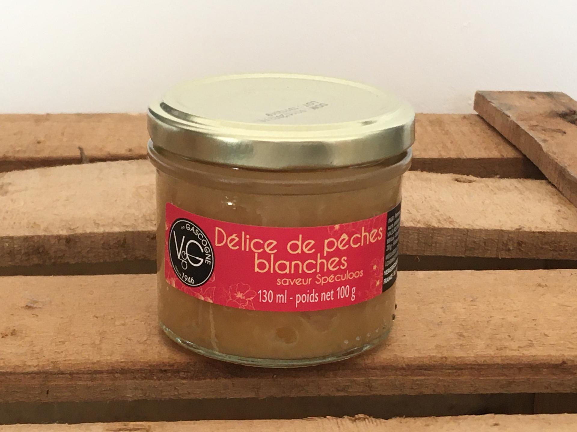 Delice de peches blanches speculoos 100g bocal