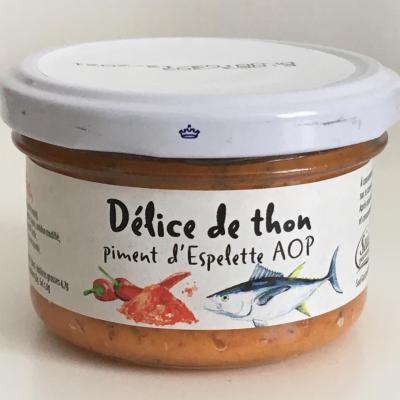 Delice de thon au piment d espelette 90g bocal