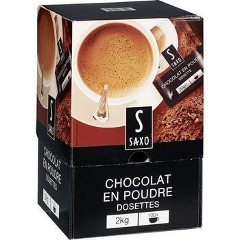 Dosette de chocolat en poudre 20 g saxo vendu a l unite