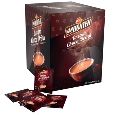 Dosettes chocolat en poudre 100 x 23 g