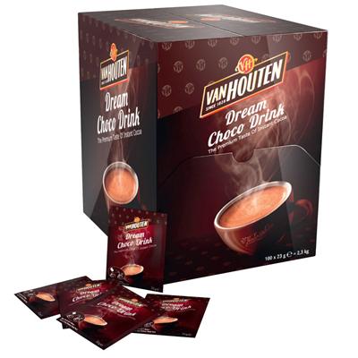 Dosettes chocolat en poudre 23 g van houten vendu a l unite